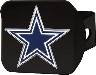 FAN MATS 22553 NFL Dallas Cowboys Black with Full Color Emblem Hitch Cover