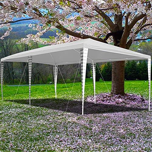 Clanmacy Pavillon 3x4m Partyzelt UV-Schutz für Garten Terrasse Markt Camping Festival als Unterstand Gartenpavillon hochwertiges Zelt