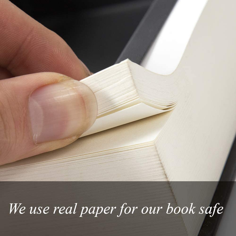 Hollowed Out Book with Hidden Secret Compartment for Jewelry Bible Real Pages Portable Diversion Book Safe with Key Lock X-Large Money and Cash