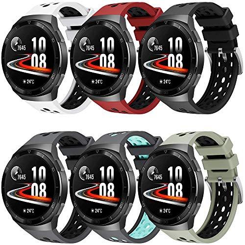 Songsier Correa Compatible con Huawei Watch GT2e,Deporte Impermeable Correa de Repuesto de Silicona Solo para Huawei Watch GT2e