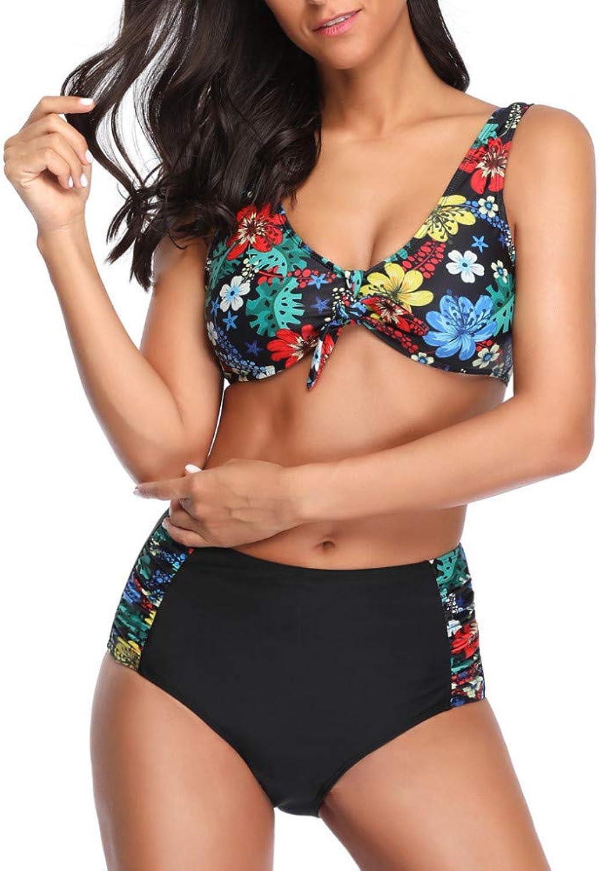 Wanmei-yzhuang Hot Retro Neue Sommer Sexy Frauen Blaume Drucken Push-Up BH Mit Strand Bikini Badeanzug Bademode Bikini Beachewear