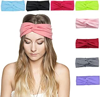 DRESHOW 8 Pack Women's Headbands Headwraps Hair Bands Bows Accessories