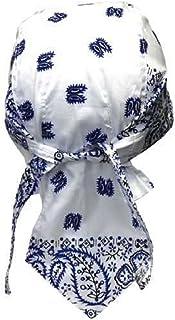 Bandana - Pañuelo para la cabeza, color blanco y azul