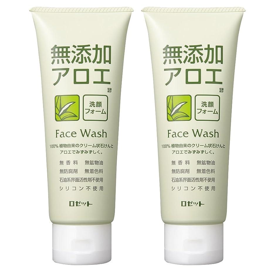 請負業者嬉しいです本質的ではないロゼット 無添加アロエ 洗顔フォーム 140g×2個パック AZ