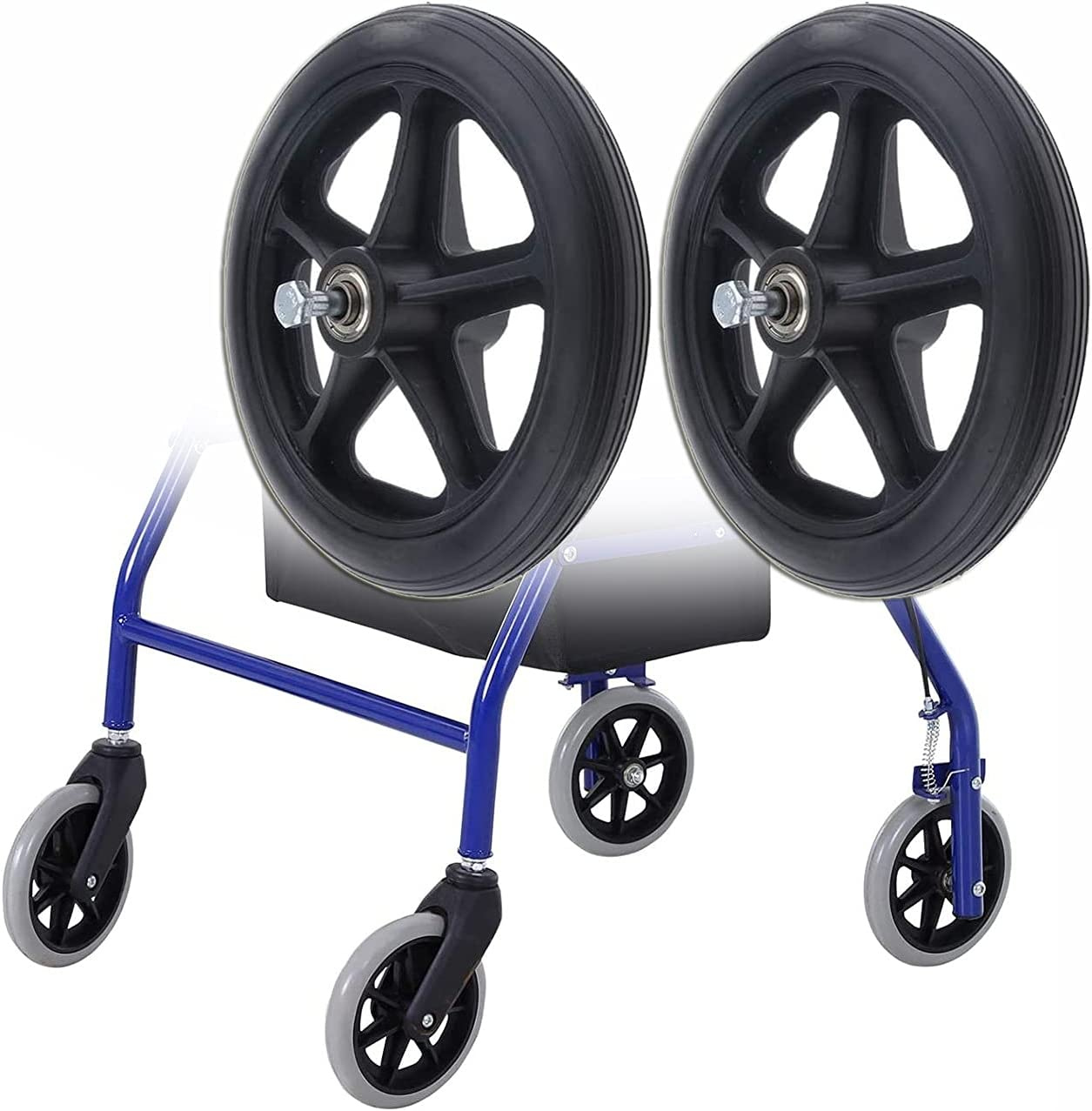 YFGYF Pack Colorado Springs Mall of 2 Solid Wheelchair Wheels Repl Accessories OFFicial store
