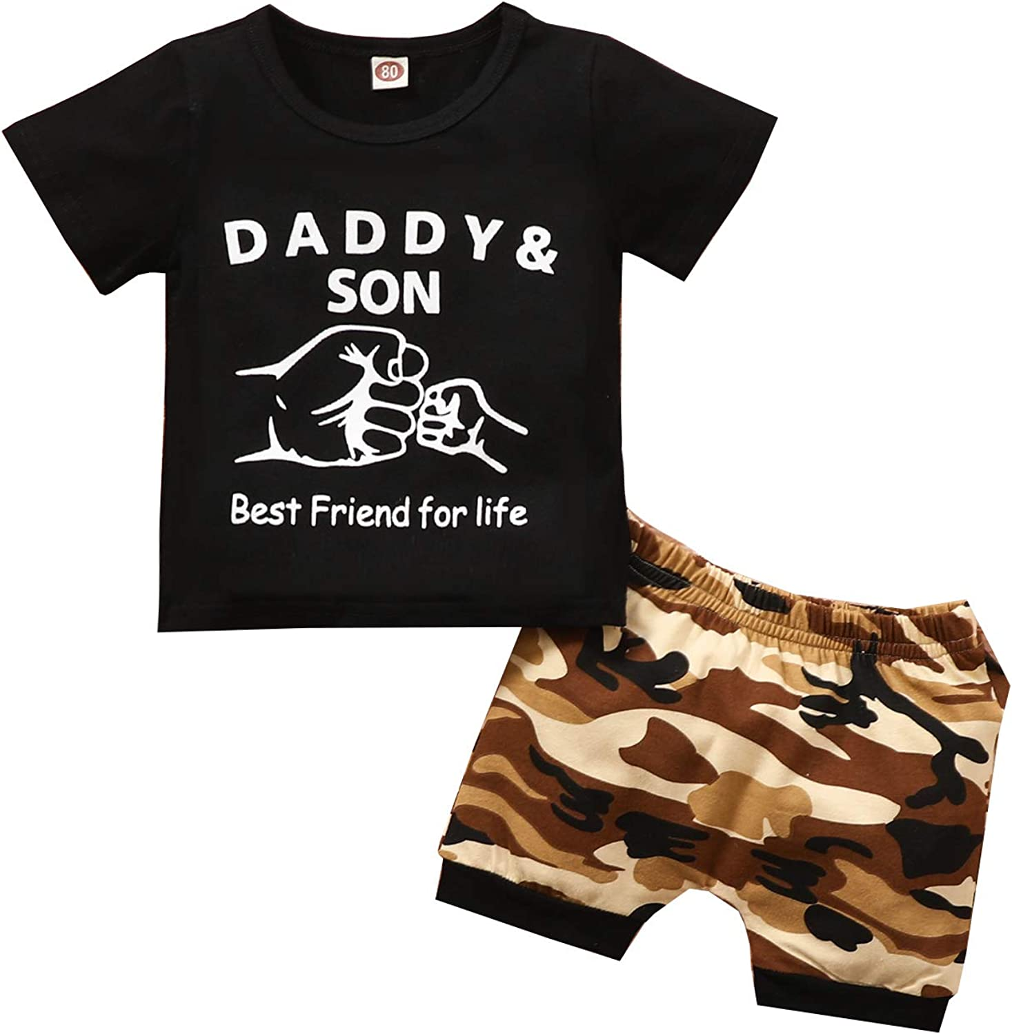 DaddySon Outfits Super sale Baby Cash special price Boy Clothes T Short Sleeves T-Shirt Black
