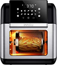Innsky Air Fryer, 10.6-Quarts Toaster Oven, Rotisserie Oven, 1500W Electric Air Fryer Oven with LED Digital Touchscreen, 10-in-1 Countertop Oven with Dehydrator & Rotisserie, 6 Accessories & 32+ Recipes