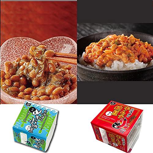 【くま納豆】 北海道のキムチ納豆 3個・めかぶ納豆 3個 父の日 ごはんのお供 おかず