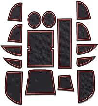 8X-SPEED Für CX-5 CX5 2013 2014 16 Stück Türschlitz Pad Auto Cup Matten Becherhalter Pad Rutschfeste Gummi Matten Tor Slot Pad Innentür Zubehör Tür Nut Matte Rot