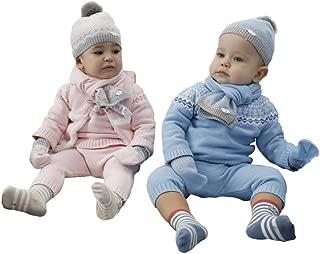 Baby Boy Girl Hat+Scarf+Gloves 3 Pieces Set
