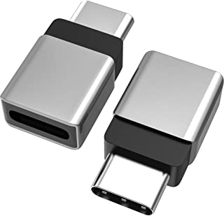 Cellularize USB C Extender Adapter (2 Pack, Grey Metal) PD 100W Quick Charge Type C Dock Extension for Lifeproof Otterbox ...