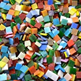 Lanyani 800 Pieces Mosaic Tiles Stained Glass - Assorted Colors for Art Craft and Home Decorations - 500g/1.1lb