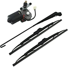 Luixxuer Electric UTV Windshield Wiper Kit, with 12V Motor Fit for Polaris Ranger RZR 900 1000 Universal Windshield Wiper ...