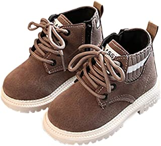 Hopscotch Baby Boys PU Lace Up Ankle Length Boots - Tan