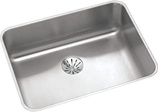 Elkay ELUHAD211555PD Lustertone Classic Single Bowl Undermount Stainless Steel ADA Sink with Perfect Drain