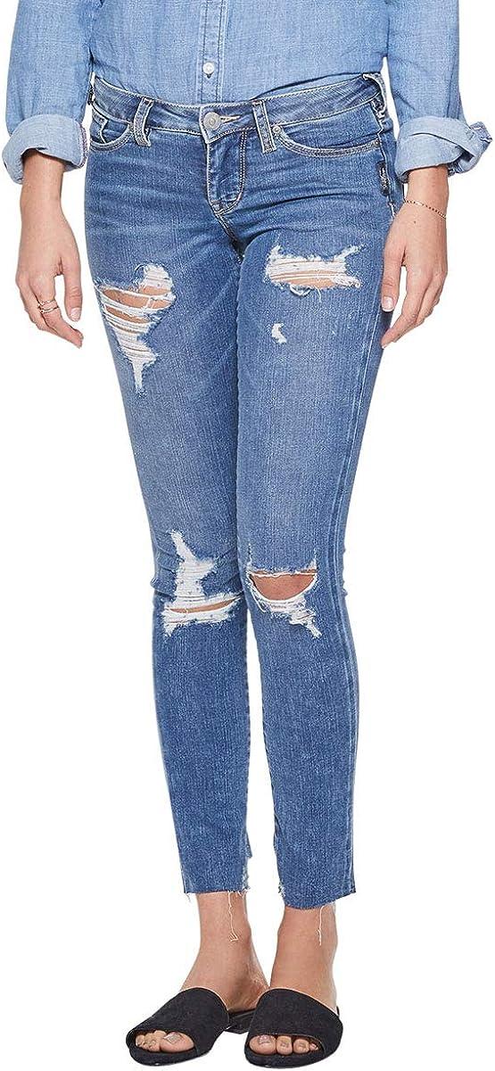 Silver Jeans Co. Women's Landree Jegging with Low Rise Ranking TOP20 Destructi SALENEW very popular