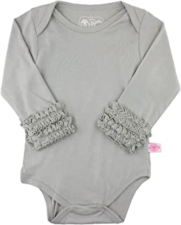 Baby/Toddler Girls Long Sleeve One Piece Layering Bodysuit with Ruffles