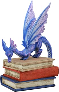 Ebros Amy Brown Bibliography Book Scholar Dragon Statue 5.5