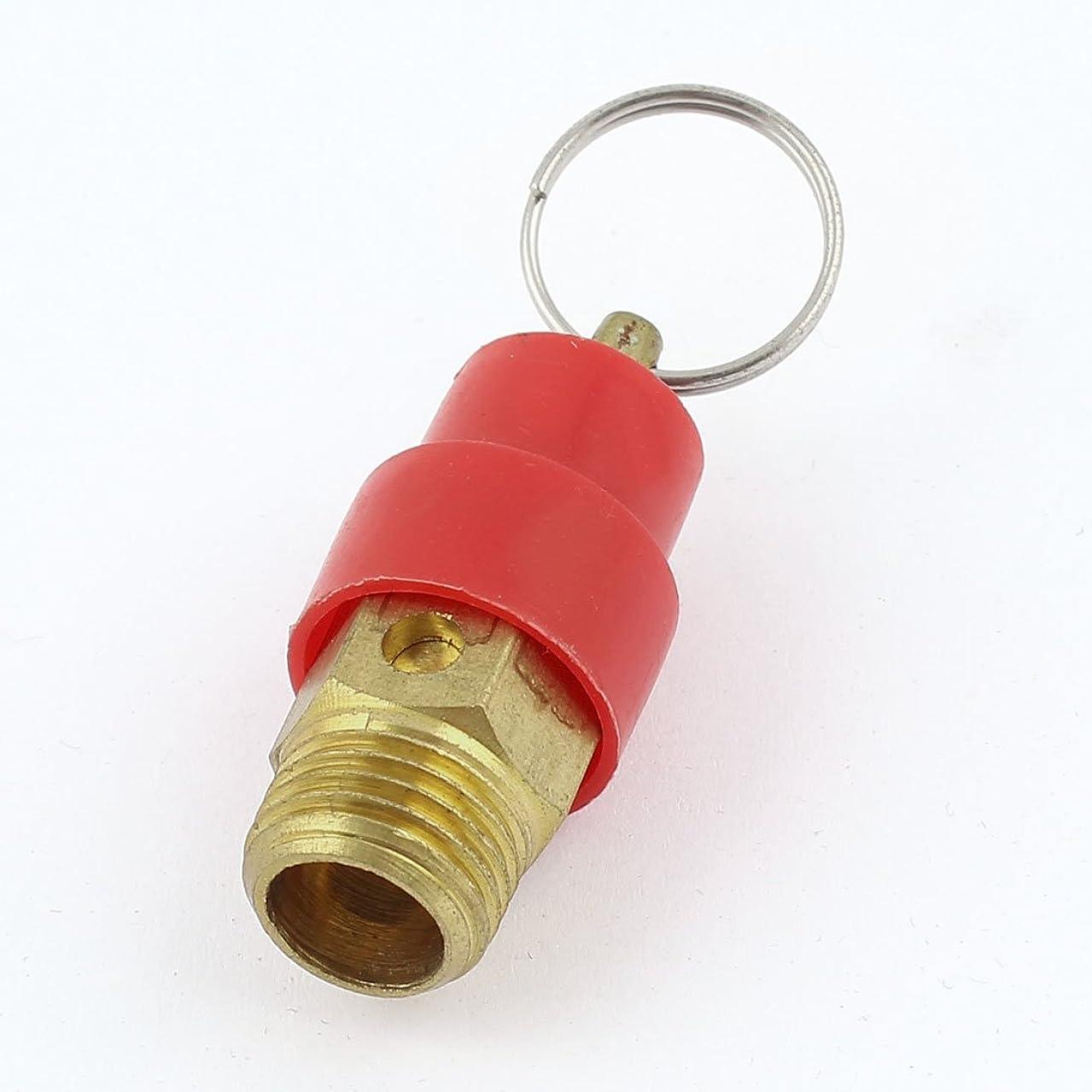 延ばすフィッティング礼儀uxcell 空気圧縮機用 安全弁 圧力リリーフバルブ エアーコンプレッサー ブラス プラスチック 安全 43 x 18mm ゴールドトーン