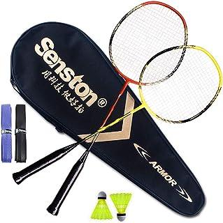 comprar comparacion Senston Raquetas de Bádminton,Unisex Adulto Badminton Racket-Incluyendo bádminton Bolsa/2 Raquetas/2 bádminton/2 Sobregrip