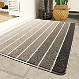 Gulenduo Durable Indoor Outdoor Door Mat for Garage, High Traffic Area, for Home Entrance Rubber Outside Entry Way Rugs Easy Clean Anti-Slip,Gray 30' 18'