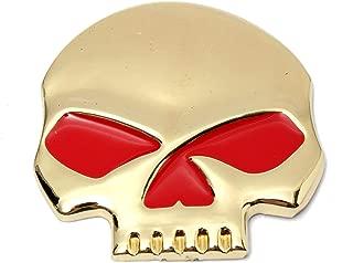 Star-Trade-Inc - 1Pcs Metal 3D Skeleton Skull Emblem Decal Emblem Badge Truck Motorcycle Car Sticker