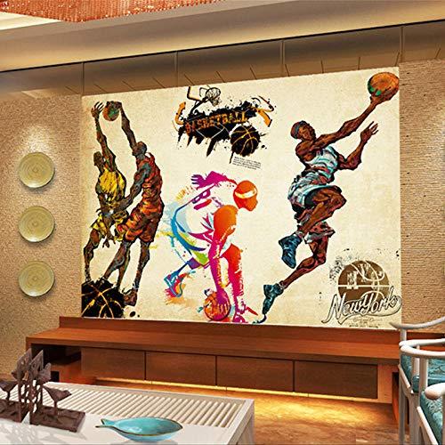 MUMU Papel Tapiz de salón Fondo de Belleza Murales en 3D Gimnasio Herramienta de uñas de Mano sólida Efecto de Acero_Fitness Wallpaper_500Cm (W) X320Cm (H)