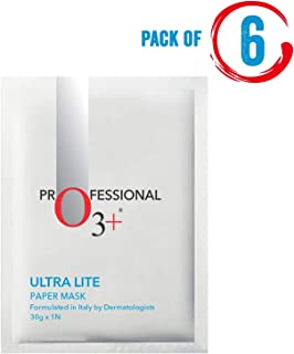 O3+ Ultra Lite Paper Mask for Face Moisturizing, Hydrating & Brightening (Set Of 6)