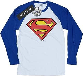 Women's Superman Logo Long Sleeved Baseball Shirt
