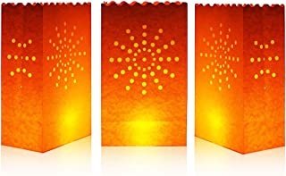 Cospring Luminary Bag Candle Bag Light Holder for Home Outdoor Christmas Wedding Reception Holiday Party and Event Occasion Decoration - Flame Resistant Paper - (20 Count) 01
