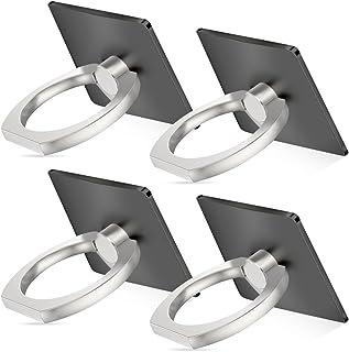 Senhai Handyhalter, 4 Pack Universal Smartphone Ring Grip Standplatz  Auto Halterungen für iPhone, iPad, Samsung HTC Nokia Smartphones, Tablet (4 Schwarz)