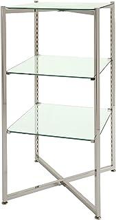Econoco FLT37CGLS Folding Glass Towers with Chrome Finish, 37