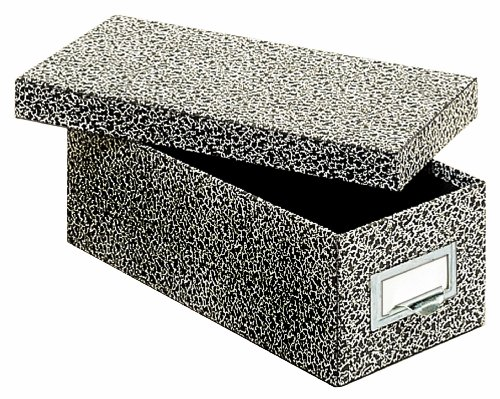 Globe-Weis/Pendaflex Fiberboard Index Card Storage Box, 3 x 5 Inches, Black Agate (93 BLA)