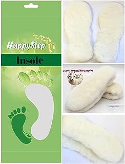 Happystep Genuine Sheepskin Lambswool Cushioning Shearling Winter Insoles with Felt Comfort Sole (Men 12)