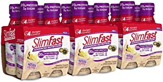 Slimfast Advanced Nutrition Vanilla Cream Shake – Ready To Drink Meal Replacement – 20g of Protein – 11 Fl. Oz. Bottle – 12Count