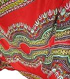 Raan Pah Muang Brand Bright African Dashiki Rayon Stoff