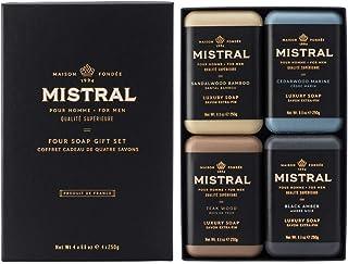 Mistral Men's Bar Soap Organic, 4 Bar Set