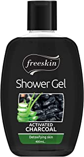 Freeskin Activated Charcoal Body Wash Shower Gel 400ml, Treats Oily Skin, Provides Flawless Skin, Reduces Pore Size & Clea...