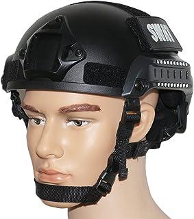 OneTigris サバゲーヘルメット MICH 2001 米軍レプリカ装備 NVGマウント・サイドレール付き 防災・作業・コスプレ・軍用などに (ブラック)