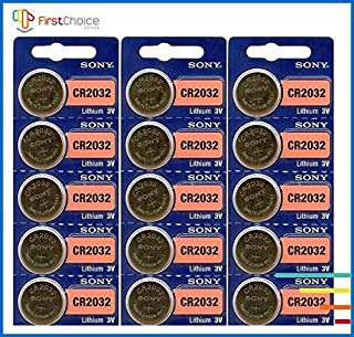 15 Genuine Sony CR2032 3v Lithium 2032 Coin Batteries Freshly Packed by Sony Size: 15 Pack Model: (Electronics Consumer Store)