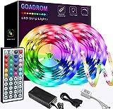Led Strip Lights 32.8ft, GOADROM IP65 Waterproof Flexible Led Lights Color Changing 5050 RGB 300 LEDs Light Strips Kit with 44 Keys IR Remote Controller and 12V Power Supply for Home, Bedroom, Kitchen