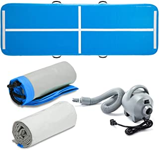 HouHai Airtrack -10ft/3.3ft Inflatable Air Track Tumbling Mat with Electric Air Pump for Gymnastics/Home/Yoga/Training/Kids/Sport/Game/Water Activities 3 Colors