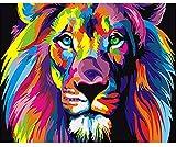 WACYDSD Puzzle 3D Puzzle 1000 Piezas Cuadro Moderno Colorido del Arte De La Pared De DIY De Los Animales Coloridos del León para Las Ilustraciones Caseras De La Pared