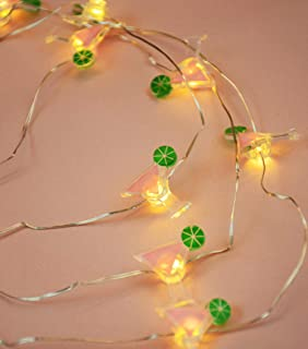 LED Wire Lights, LED String Lights, Battery Operated String Lights with 36 Cosmopolitan Shaped Warm LEDs for Party, Bedroom, Kitchen, Patio, Deck and more, 12 Feet Long