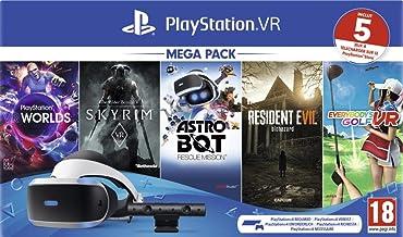 Sony PlayStation VR mega pack, Avec casque PS VR + PS Camera + 5 jeux inclus, Système compatible avec toute console PS4, C...