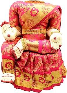 Puja N Pujari Fabric Varalakshmi Idol, Standard, Pink and Gold