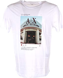 A X Armani Exchange Men's Cotton Jersey T-Shirt with Store Front Print