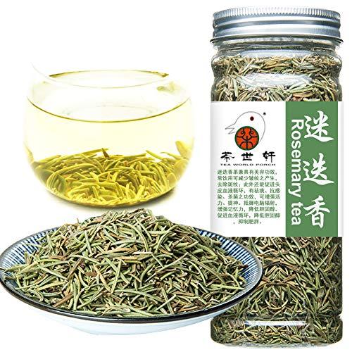 Plant Gift Natural Rosemary Tea Loose Leaf, Rosemary Seasoning, Rosemary Leaves Herbal Tea for enhancing memory, improve sleep Slimming Beauty skin care 80G/2.82oz