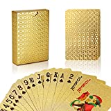 Joyoldelf 24K Gold Foil Poker Playing Cards Deck Carta de Baralho with Box Good Gift Idea