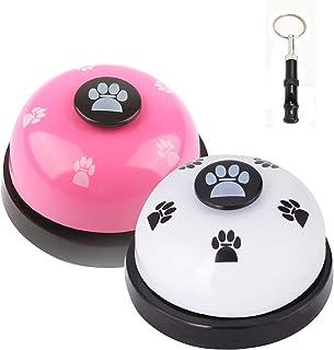 JIMEJV Set of 2 Pet Training Bells, Dog Door Bells for Go...